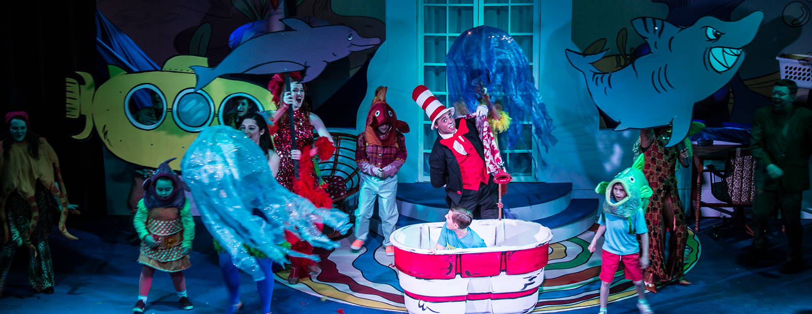 "Catch the colorful ""Seussical the Musical"" at Riverbank Theatre through March 18."