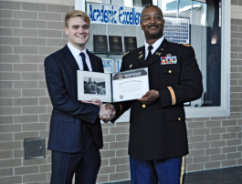 R.J. Russel receives recognition for his appointment to West Point.