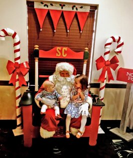 Excited children will get the opportunity to meet Santa during the Festival of Trees.