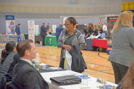 More than 79 employers attended a job fair earlier this year at the college.
