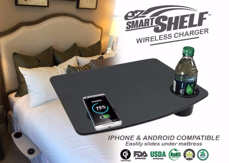 The Smart Shelf simplifies life with easy wireless charging.