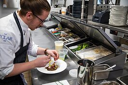 Chef Jacob Verstegen is committed to providing fresh, sustainable foods for restaurant patrons.