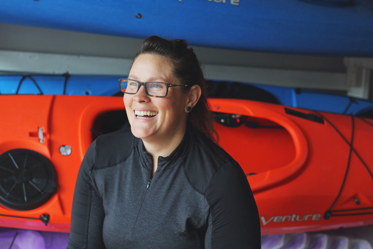 Missy Campau of Missy's Kayak Connection in Port Huron loves the Island Loop and paddles it as often as she can.