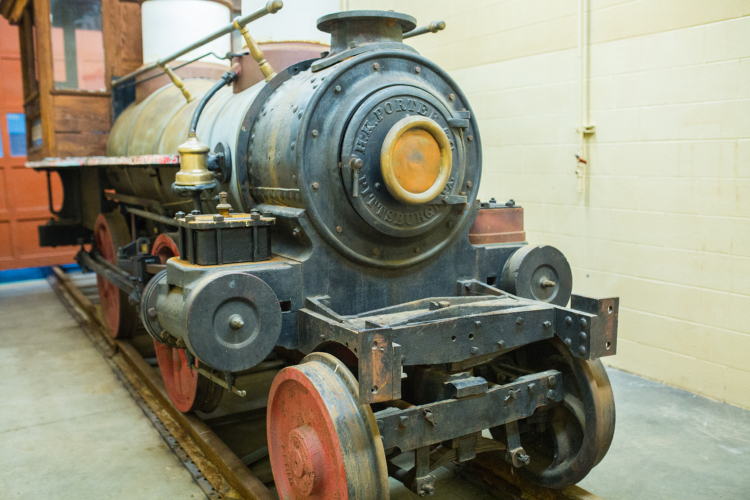 The 140-year-old D.B. Harrington is being restored.