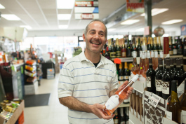 Andy Bakko enjoys sharing his knowledge of wine with customers.