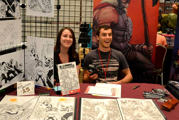 Jay De Foy and Andrea Goossens at Cherry Capital Con.