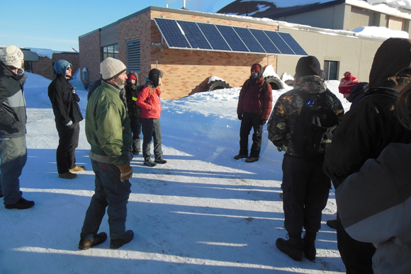 NMU students work with Super Central high school students.