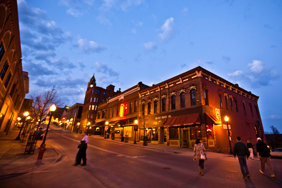 Downtown Marquette at night. / Shawn Malone