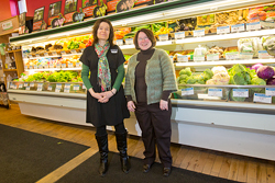 Natasha Lantz and Michele Walk of the UP Food Exchange