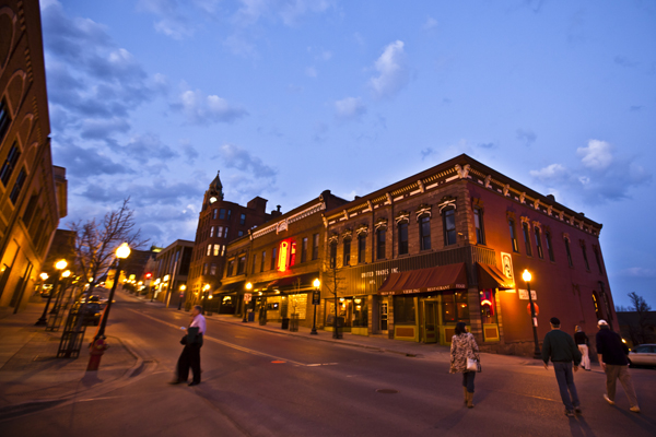 pedestrian friendly Downtown Marquette