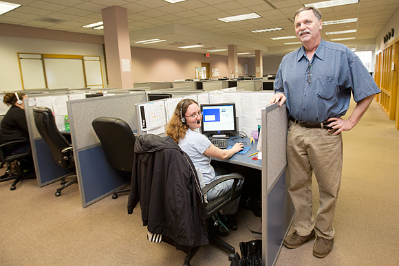 Jim Carollo of Issues and Answers call center, Iron Mountain