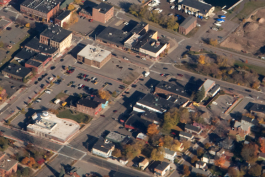 Downtown Marquette from above.