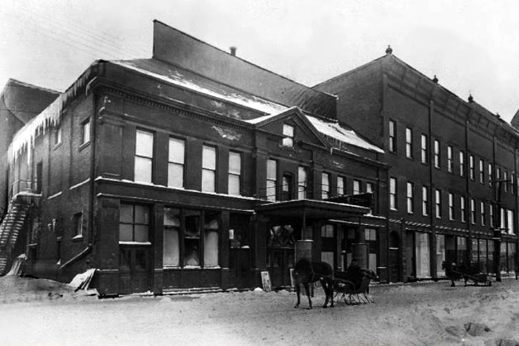 The Braastad-Gossard building in Ishpeming in its early days.