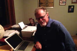 Brian Cabell at his home office.