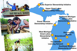 Great Lakes stewardship programs focus on place-based education.