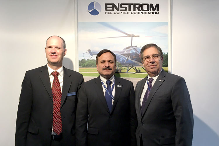 Representatives from Pakistan with Enstrom officials.