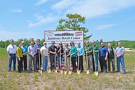 Jandron's Retail Center breaks ground in Marquette.