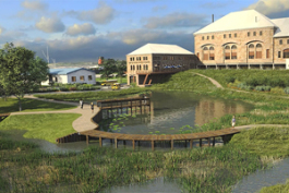LSSU's new planned aquatic research center.