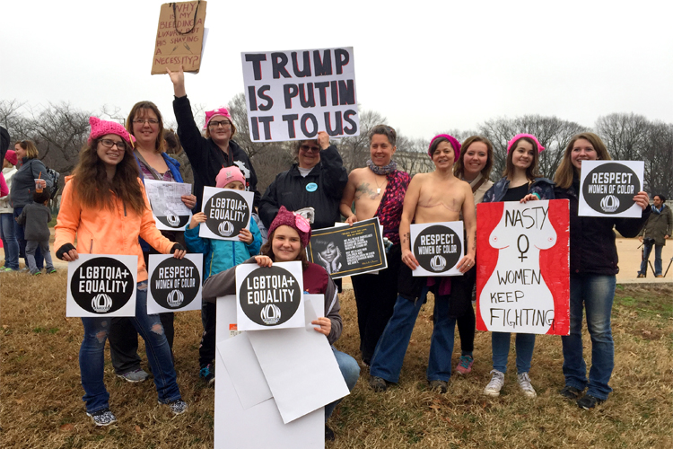 Some of the Upper Peninsula women who marched on D.C.