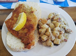 Pork schnitzel at Wagener's in Au Train.
