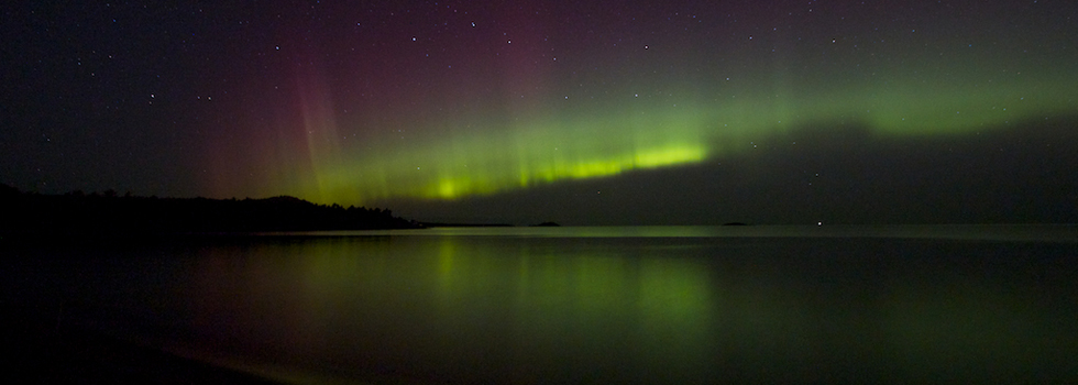 The Northern Lights over Marquette.