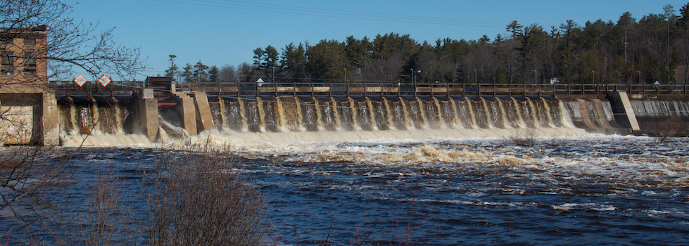 Escanaba River Dam No. 3 in Wells.