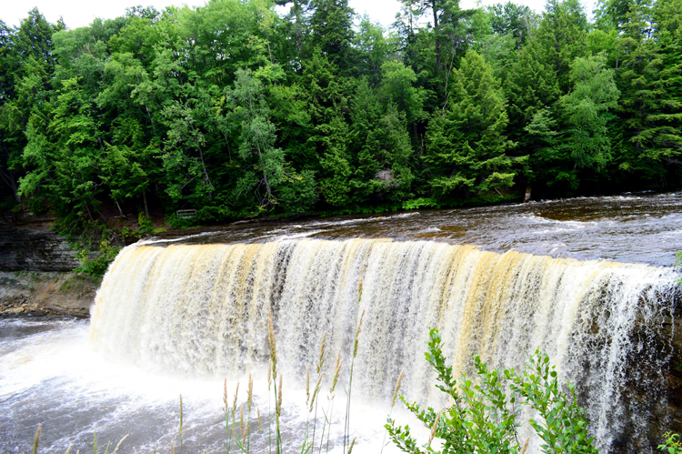 Hemlocks line the banks at Tahquamenon Falls in Michigan's Upper Peninsula.